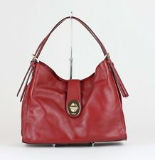 COACH Currant Red Leather Madison Carlyle Shoulder Bag