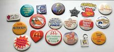 LOT 10 MCDONALDS PINS MAC TONIGHT DICK TRACY GARFIELD FRAGGLE CREW BUTTONS