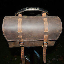 Very Large Genuine Leather Bicycle Bag Saddle Handlebar OLD FASHIONED UK STOCK
