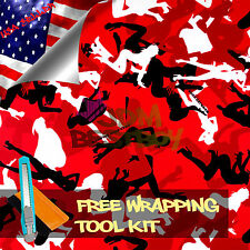 """*12""""x60'' Morning Wood Red Wood CAMO Camouflage Vinyl Wrap Decal Sticker Skin"""