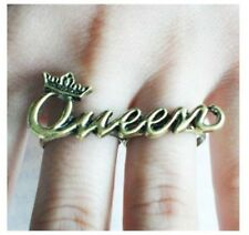 Fashion Design Retro Fashion Joint Queen Two Finger Ring Adjustable