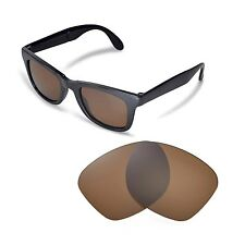 New Walleva Polarized Brown Lenses For Ray-Ban Wayfarer RB4105 50mm Sunglasses