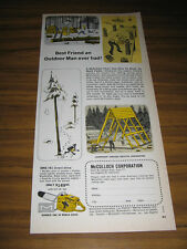 1960 Vintage Ad McCulloch ONE/41 Direct Drive Chain Saws Los Angeles,Minneapolis