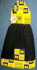 **NEW** University of Michigan Wolverines Black Hanging Kitchen Hand Towel #938