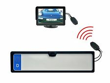 Einparkhilfe Nummernschildhalter Kamera Monitor 4.3 Zoll & Funkübertrager