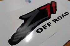 Z71  off road stickers decal, carbon fiber black, silverado tahoe ( SET )