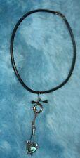 Modernist  Sterling Silver Brutalist  Rober Chain Pendant Necklace