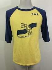 VTG 70s Thames Valley Chatham NY 50/50 T Shirt M S 3/4 Sleeve Baseball THIN!