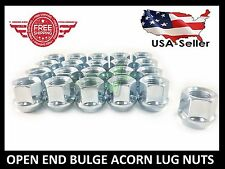"20 OPEN END CHROME BULGE ACORN LUG NUTS | 1/2X20 | 3/4"" HEX 