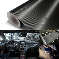 "60"" x 60"" 3D Carbon Fiber Vinyl Wrap Vehicle Sticker Bubble Free 5 x 5ft Black"
