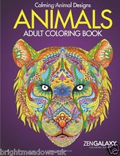 Animals Adult Colouring Book Intricate Detail Advanced Christmas Gift Stocking