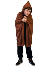 Brown Hooded 76cm Cape Halloween Fancy Dress Medieval Archer Robin Hood