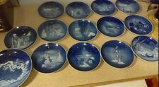 A Complete Run of Royal Copenhagen Christmas Plates, 1970-1979,plus 81,82,87 and