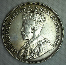 1930 Canada Twenty Five Cent Coin George V Canadian VF Coin KM#24a