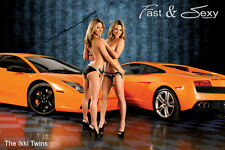 Ikki Twins great ass two girls Exotic Car fast & sexy posters