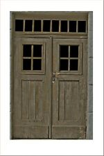 Reality In Scale 1:35 54mm Old Wooden Double Door - Diorama Accessory #GL109