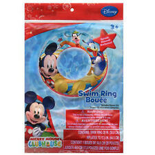 "Disney Mickey Mouse Kids 20"" Swimming Swim Ring Tube Toy Float NEW"