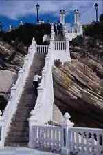 777029 Looking Up The Steps To Church Plaza Benidorm Spain A4 Photo Print
