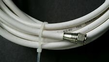 US SELLER RG6 WHITE COAX COAXIAL CABLE WIRE CORD 25' LENGTH F-MALE TO F-MALE