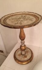 A Beautiful Gold Florentine  Round Pedestal Table, Italy