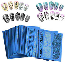 48 Sheet  Lots Flower Lace Nail Art Water Transfer Decal Sticker Fashion Decor