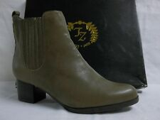 Zoe + Luca Size 6 M Olive Ankle Booties Leather New Womens Shoes
