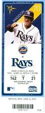 2012 Rays vs Mets Ticket: Kirk Nieuwenhuis 2 HRs/Jason Bay HR/Johan Santana Win