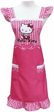 Sanrio Hello Kitty Polyester Women Apron One Size Pink -  Lace Ribbon