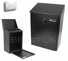 Large Steel Wall Mounted Lockable Mail Mailbox Post Postbox Letter Letterbox Box