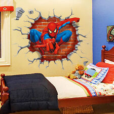 3D Spiderman Super Hero Wall Sticker Kids Boys Bedroom Removable Vinyl Art Decal