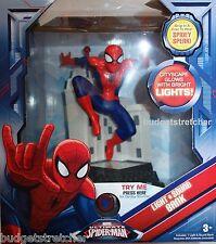 Nouveau Marvel Spiderman feux clignotant et sonore musical argent tirelire Âge 3 +