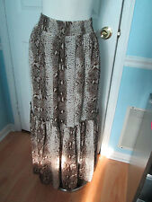 boston proper animal print maxi skirt xs