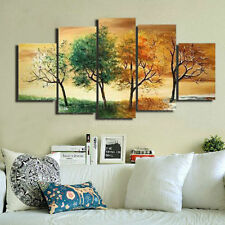 NOT FRAMED Oil Painting on Canvas art wall decor 4 Seasons abstract tree picture