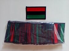 "50 Rasta African American Flag (RBG) Embroidered Patches 3""x2""-"