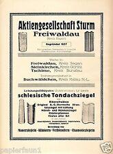 Ziegel Dachziegel Sturm Freiwaldau Gozdnica Reklame 1923 Tschirne Buchwäldchen