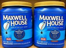 Maxwell House Ground Coffee Original Roast 2 pack x 42.5 oz Cans = 85 oz Totals