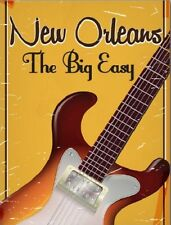 """*Postcard-""""Guitar...New Orleans/The Big Easy"""""""
