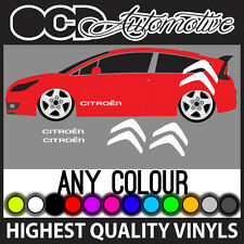 CITROEN C2 C3 C4 DS3 SAXO SIDE GRAPHICS STICKERS DECALS KIT BIG LOGO LOEB VTR
