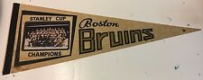 Vintage 1970 Boston Bruins Stanley Cup Champions Photo Pennant NHL