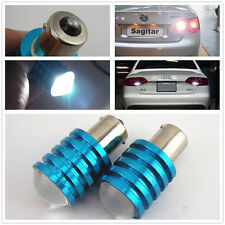 2 Pcs 1156P BA15S 7W Cree Q5 LED Pure White Car Signal Reverse Light Lamp Bulb