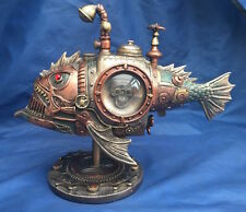Steampunk Sub Piranha Ornament Nemesis Now New Boxed Submarine Fish Ornament