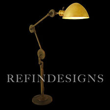 EDON STREAMLINE INDUSTRIAL MACHINE AGE LG TENSION DISK EXTENSION TABLE LAMP 1930