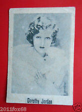actors acteurs figurines cigarettes cards cigarrillos 2 serie #35 dorothy jordan