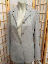 Liz Claiborne Collection Gray 3 button Front Suite Jacket Blazer Womens Size 8