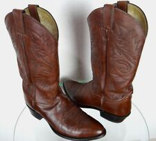 JUSTIN COWBOY BOOTS BROWN LEATHER VTG-CLASSIC SIZE MENS 11