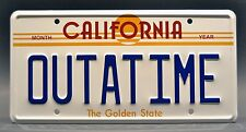Back to the Future BTTF 1985 OUTATIME License Plate Replica Diamond Select