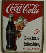 COCA COLA Metal Sign Delicious and refreshing 5c in bottles sprite boy Coke
