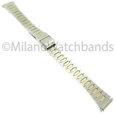 12-16mm Gilden Two Tone Fold Over Buckle Stainless Steel Ladies Watch Band 1026