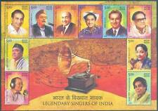 LEGENDARY SINGERS OF INDIA 2016 MINIATURE SHEET 10 MNH STAMPS