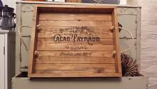Wooden Breakfast Food Serving Tray Rustic Large Food Breakfast French Style